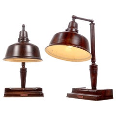 Early Jewelers Counter-Top Lamp, Pair
