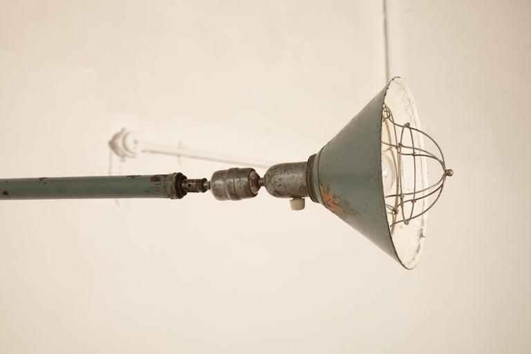 Early Johan Petter Johansson Industrial Triplex Telescopic Lamp, Sweden, 1910s For Sale 7