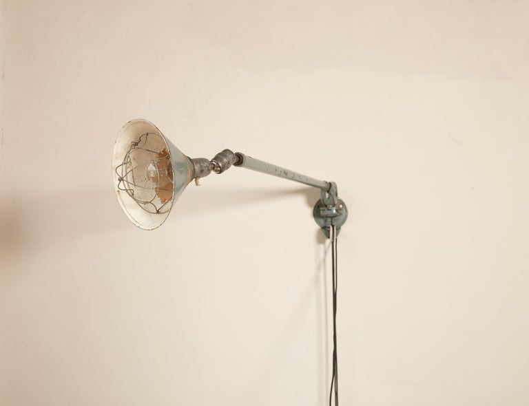 Early Johan Petter Johansson Industrial Triplex Telescopic Lamp, Sweden, 1910s For Sale 9
