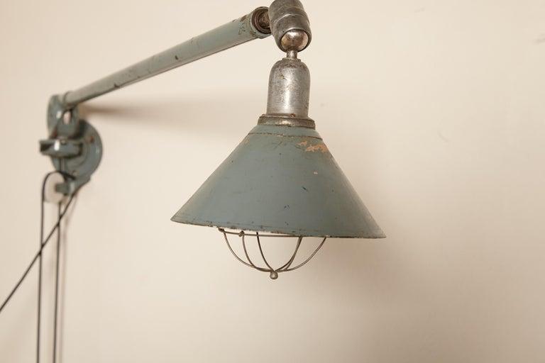 Early Johan Petter Johansson Industrial Triplex Telescopic Lamp, Sweden, 1910s For Sale 3