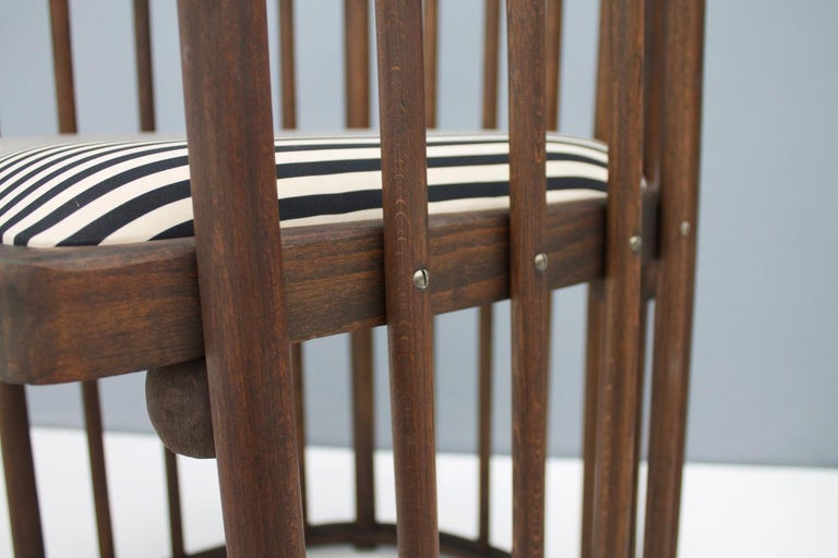 Late 19th Century Early Josef Hoffmann Barrel Chair Jacob & Josef Kohn Austria, 1880 For Sale