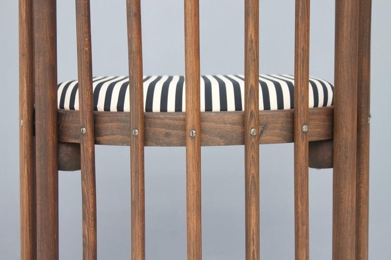 Early Josef Hoffmann Barrel Chair Jacob & Josef Kohn Austria, 1880 For Sale 1