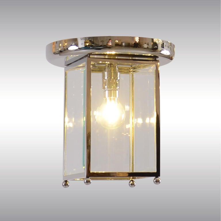 Austrian Josef Hoffmann Flush Mount puristic Jugendstil Lamp, Re-Edition For Sale