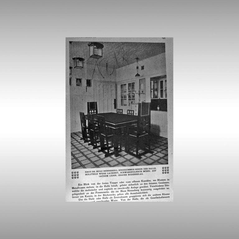 Hand-Crafted Josef Hoffmann Flush Mount puristic Jugendstil Lamp, Re-Edition For Sale