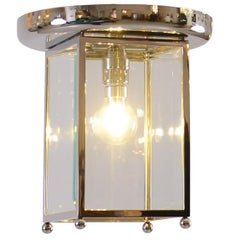 Josef Hoffmann Flush Mount puristic Jugendstil Lamp, Re-Edition