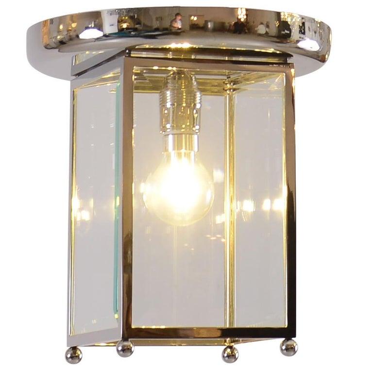 Josef Hoffmann Flush Mount puristic Jugendstil Lamp, Re-Edition For Sale