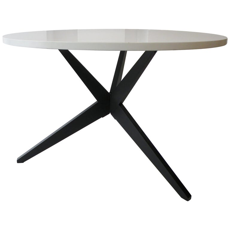 Early Knoll Hans Bellmann Round Popsicle Dining Table For Sale