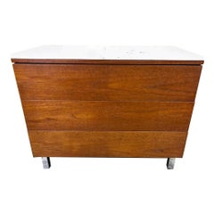 Early Knoll Three-Drawer Chest with Carrera Marble Top