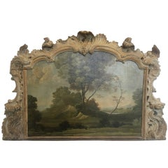Early Landscape in Carved Boiserie Frame