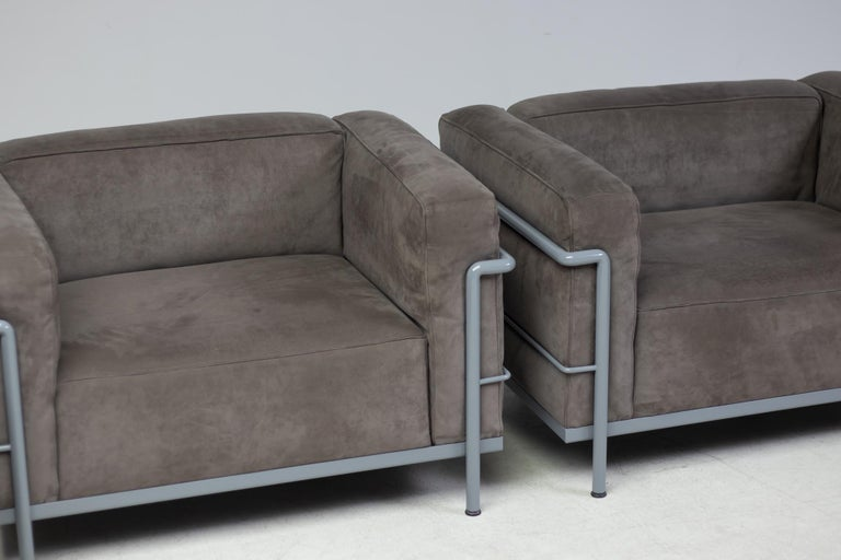 Early Limited Edition Matching Le Corbusier LC3 and LC2 Set by Cassina 5