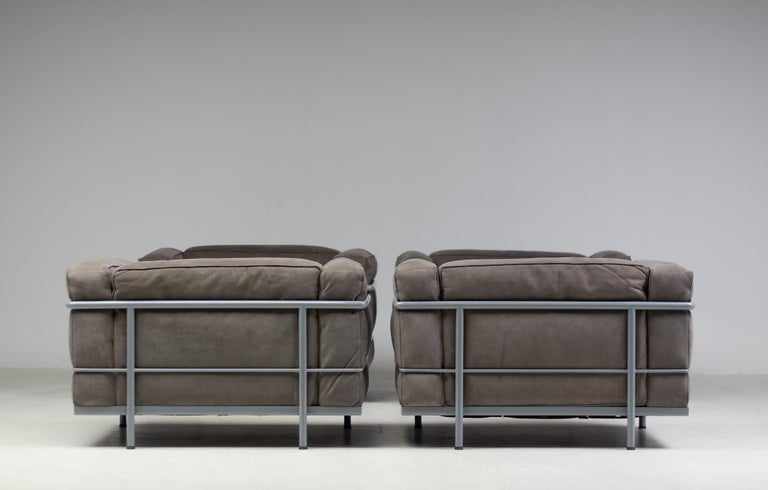 Early Limited Edition Matching Le Corbusier LC3 and LC2 Set by Cassina 6