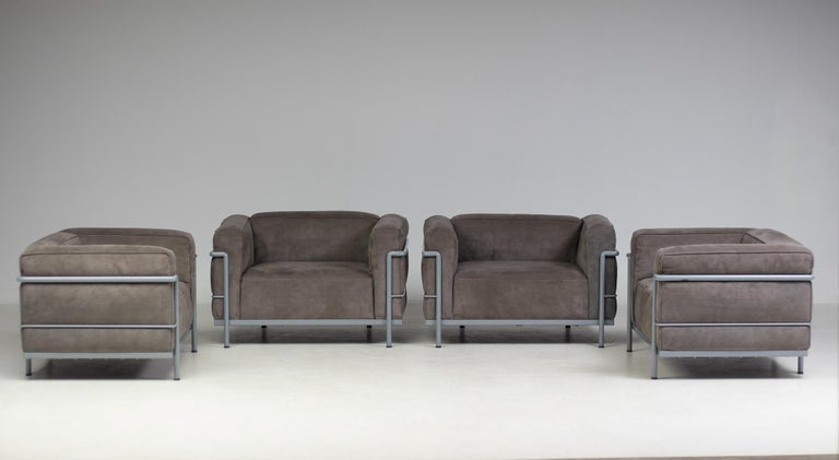 Early Limited Edition Matching Le Corbusier LC3 and LC2 Set by Cassina 7