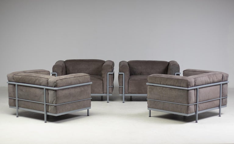 Early Limited Edition Matching Le Corbusier LC3 and LC2 Set by Cassina 8