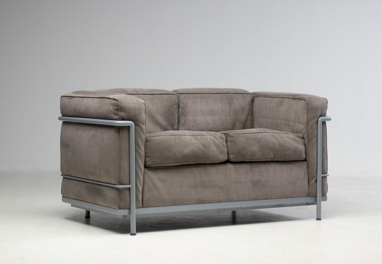 Swiss Early Limited Edition Matching Le Corbusier LC3 and LC2 Set by Cassina
