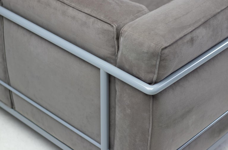Steel Early Limited Edition Matching Le Corbusier LC3 and LC2 Set by Cassina