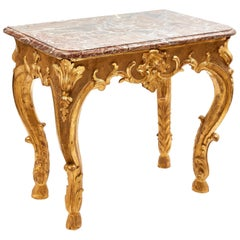 Early Louis XV Giltwood and Marble Console, circa 1740