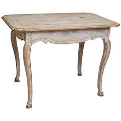 Early Louis XV Period Painted Side Table with a Single Side Drawer