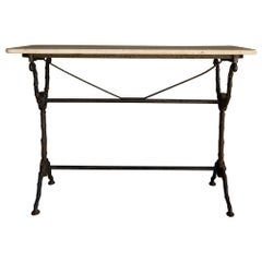 Early Marble Bistro Table from France, circa 1920