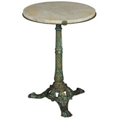 Early Marble Bistro Table from France, circa 1940