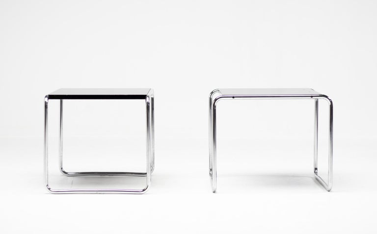 Mid-Century Modern Early Marcel Breuer Side Tables by Gavina, Italy For Sale