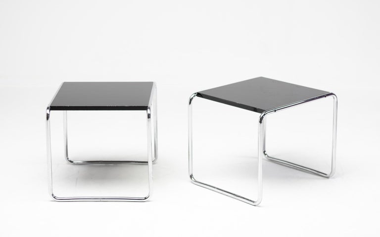 Early Marcel Breuer Side Tables by Gavina, Italy In Good Condition For Sale In Dronten, NL
