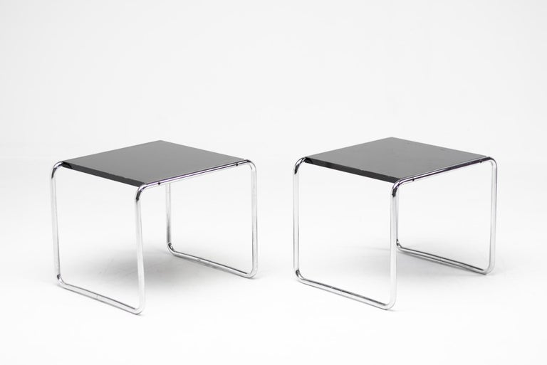 20th Century Early Marcel Breuer Side Tables by Gavina, Italy For Sale