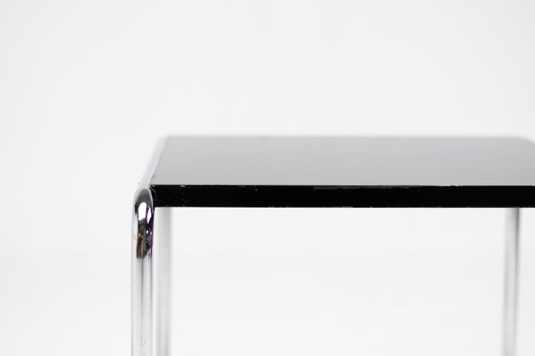 Steel Early Marcel Breuer Side Tables by Gavina, Italy For Sale