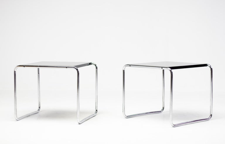 Early Marcel Breuer Side Tables by Gavina, Italy For Sale 1