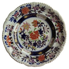 Early Mason's Ironstone Desert Plate in Heavily Floral Japan Pattern, circa 1815