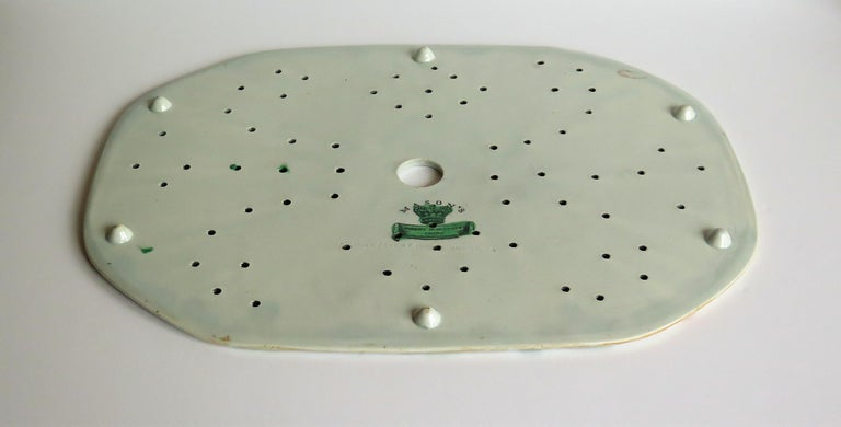 Early Mason's Ironstone Drainer Plate in Table and Flower Pot Pattern, Ca 1815 For Sale 5