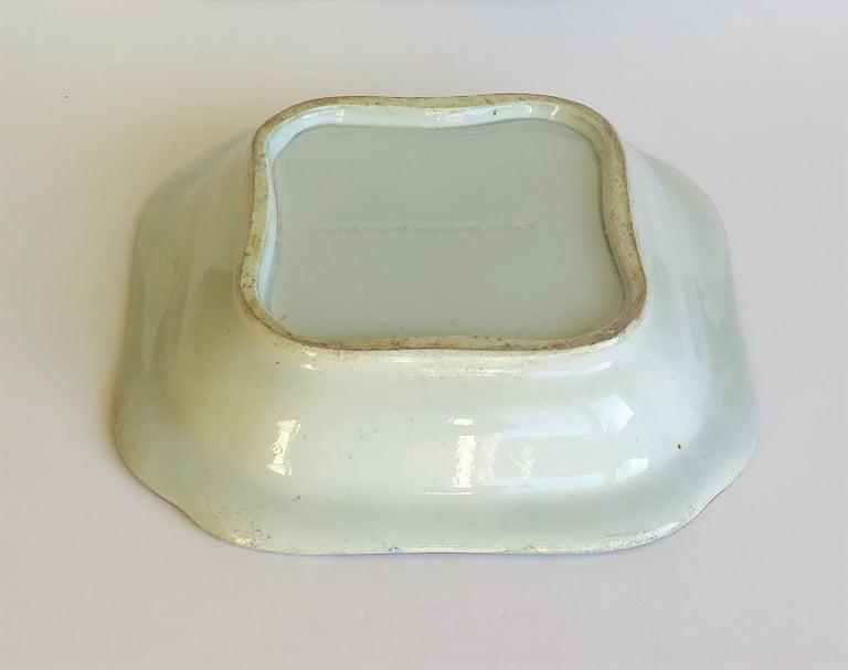 Georgian Mason's Ironstone Large Dish or Bowl Gilded Japan Basket, circa 1818 For Sale 7