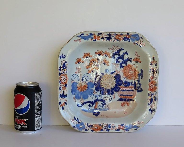 Georgian Mason's Ironstone Large Dish or Bowl Gilded Japan Basket, circa 1818 For Sale 10