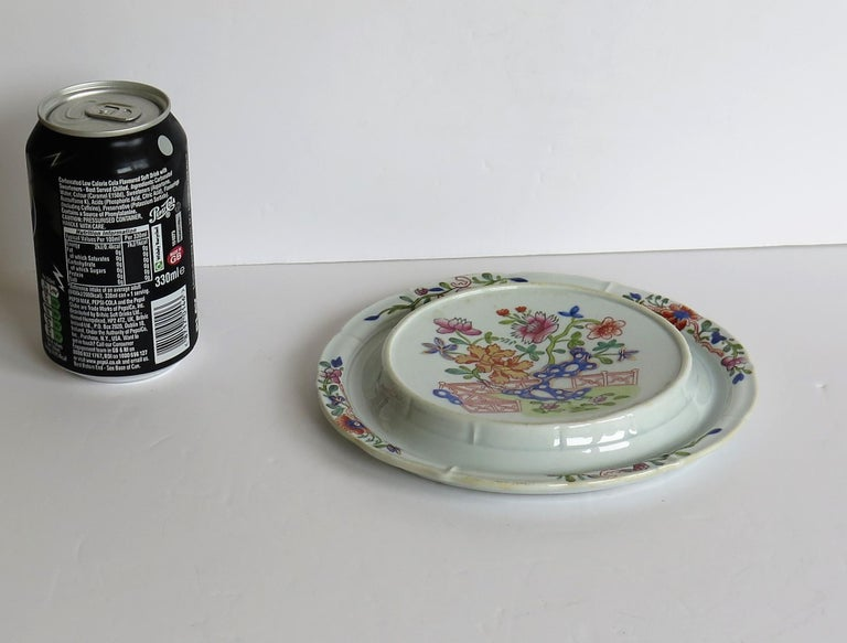 Early Mason's Ironstone Teapot Stand in Fence, Rock and Gold Flower Ptn For Sale 9