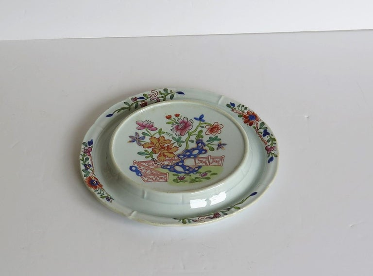 Early Mason's Ironstone Teapot Stand in Fence, Rock and Gold Flower Ptn In Good Condition For Sale In Lincoln, Lincolnshire