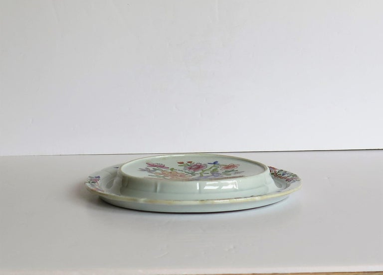 19th Century Early Mason's Ironstone Teapot Stand in Fence, Rock and Gold Flower Ptn For Sale