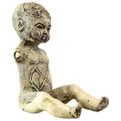 Early Michele Oka Doner 'Tattooed Doll' Sculpture, 1960s