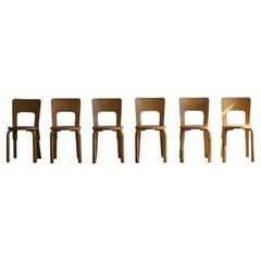 Early Mid-Century Modern Dining Chairs by Alvar Aalto for Artek, Model 66, 1950s