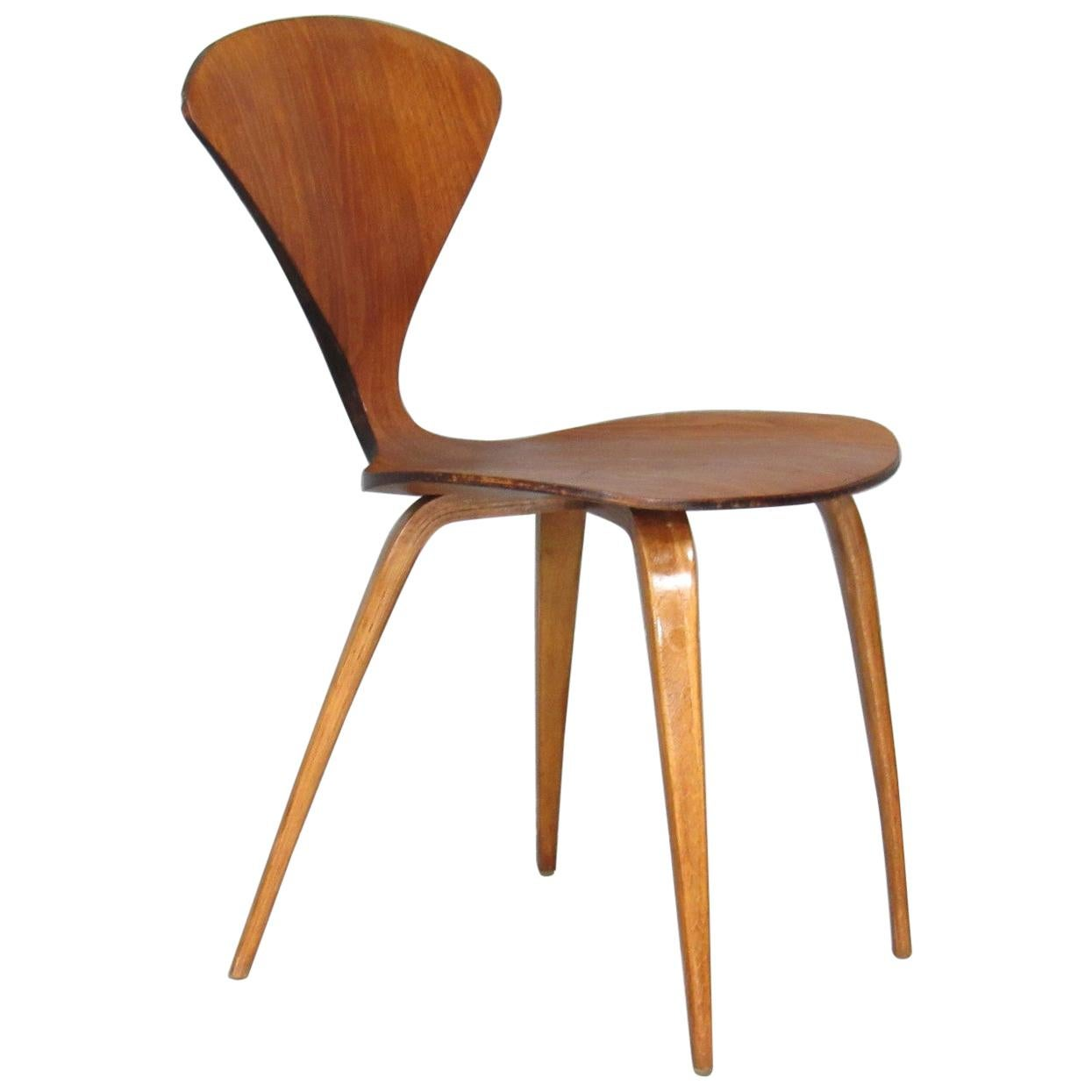Early Mid-Century Modern Side Chair by Norman Cherner for Plycraft in Walnut