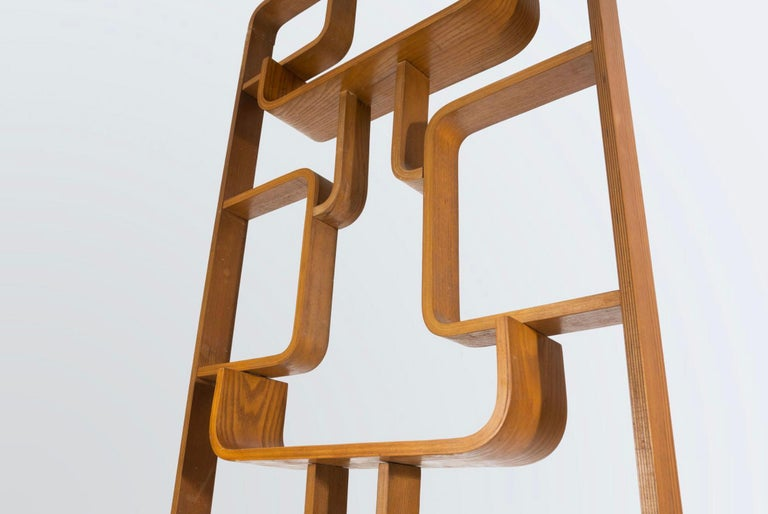 Early Mid-Century Room Divider Shelves for Thonet in Bent-Wood, circa 1950s In Good Condition For Sale In Almelo, NL