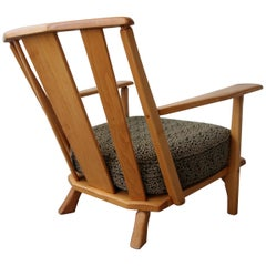 Early Midcentury Craftsman Style Maple Lounge Chair
