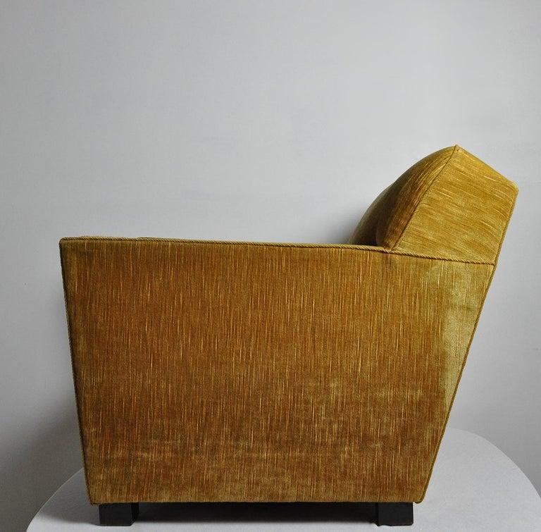 Mid-Century Modern Early Midcentury Lounge Chair in Original Velvet Upholstery For Sale