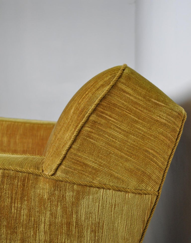 Mid-20th Century Early Midcentury Lounge Chair in Original Velvet Upholstery For Sale