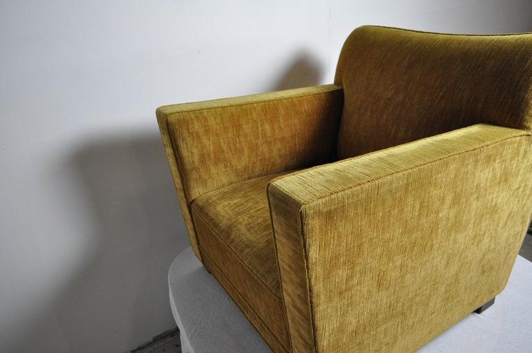Early Midcentury Lounge Chair in Original Velvet Upholstery For Sale 1