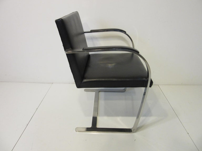 Early Mies van der Rohe Brno Leather Armchairs for Knoll In Good Condition For Sale In Cincinnati, OH