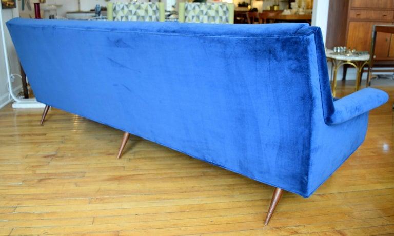 American Early Milo Baughman Angular Sofa for Thayer Coggin For Sale