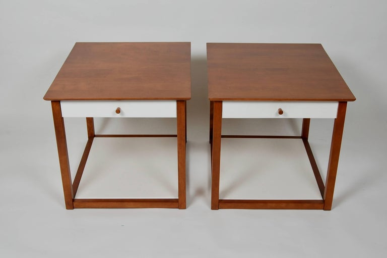 discount designer end tables pair of milo baughman end tables for murray an early design by this designer circa early design end tables midcentury modern