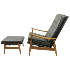 Early Milo Baughman for James Furniture Reclining Lounge Chair with Ottoman