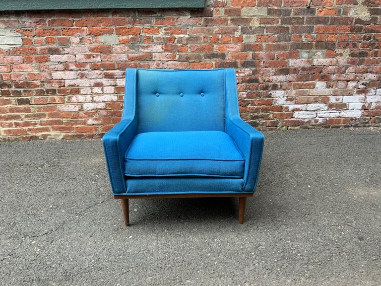 Mid-Century Modern Milo Baughman for James Incorporated Upholstered Armchair For Sale
