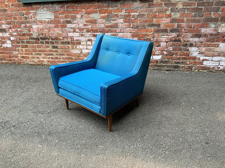 American Milo Baughman for James Incorporated Upholstered Armchair For Sale