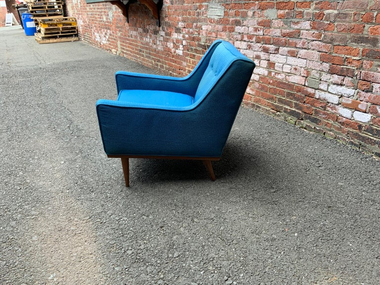 Milo Baughman for James Incorporated Upholstered Armchair In Good Condition For Sale In Garnerville, NY